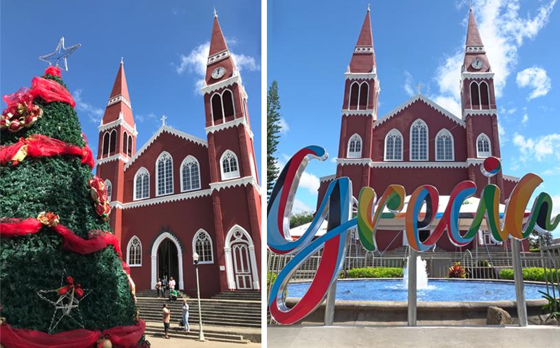 Grecia kerk onderweg naar la Fortuna