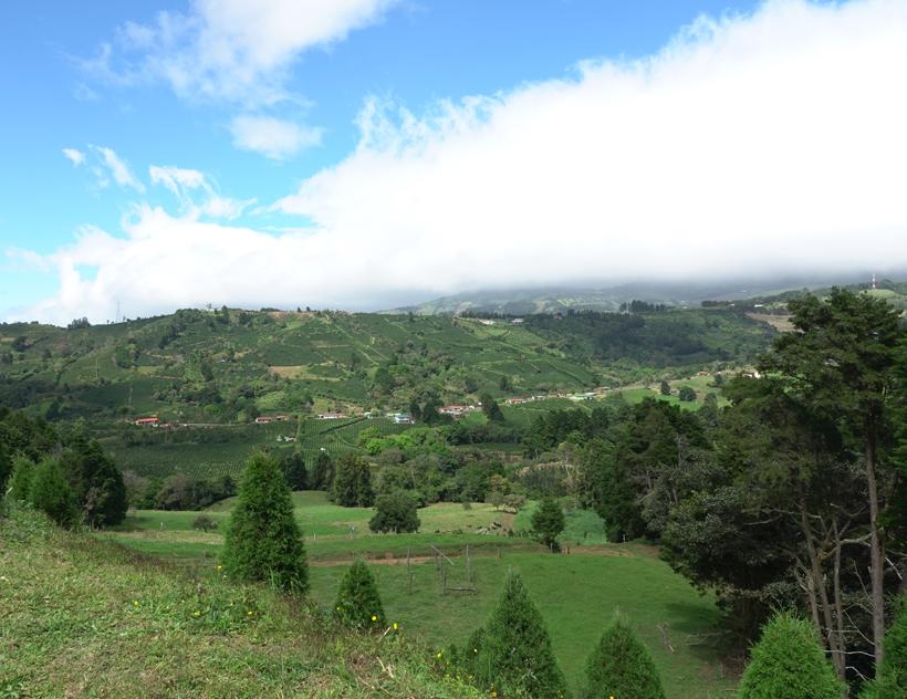 uitzicht op landschap voor zarcero