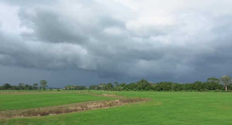 onweer op komst bij la Fortuna