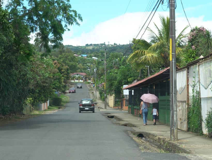 foto van weg naar zarcero via naranjo