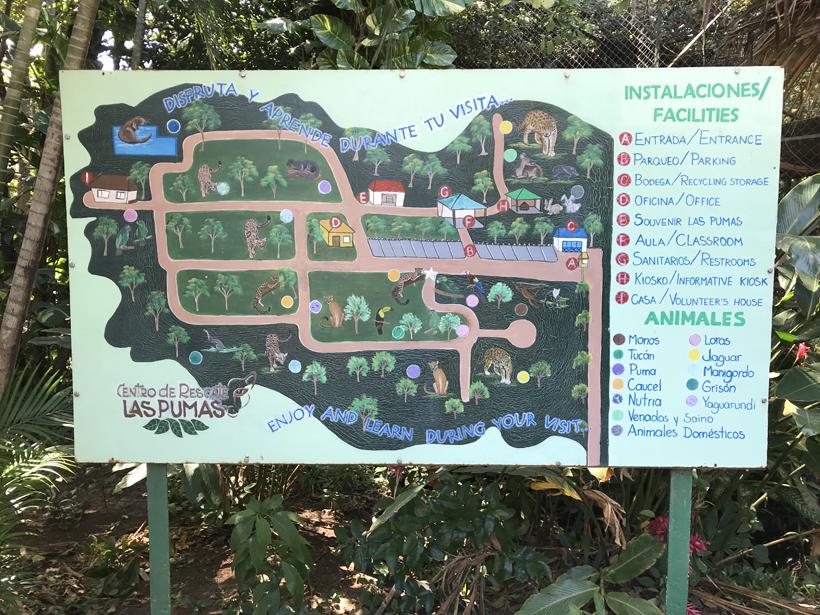 site map Centro rescate las pumas