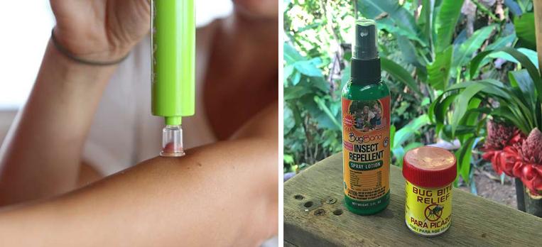 muggenbeet behandeling mee in bagage costa rica