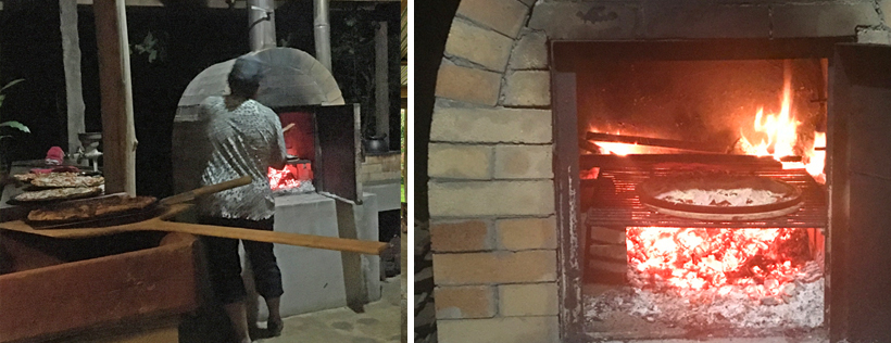 pizza diner outdoor oven