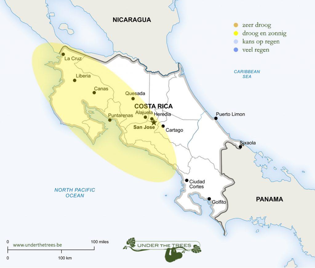 het weer in april in Costa Rica