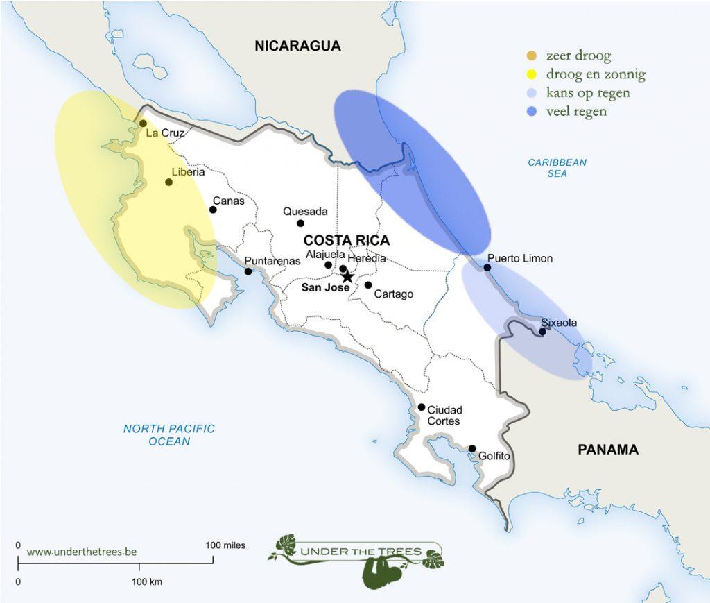 het weer in december in Costa Rica