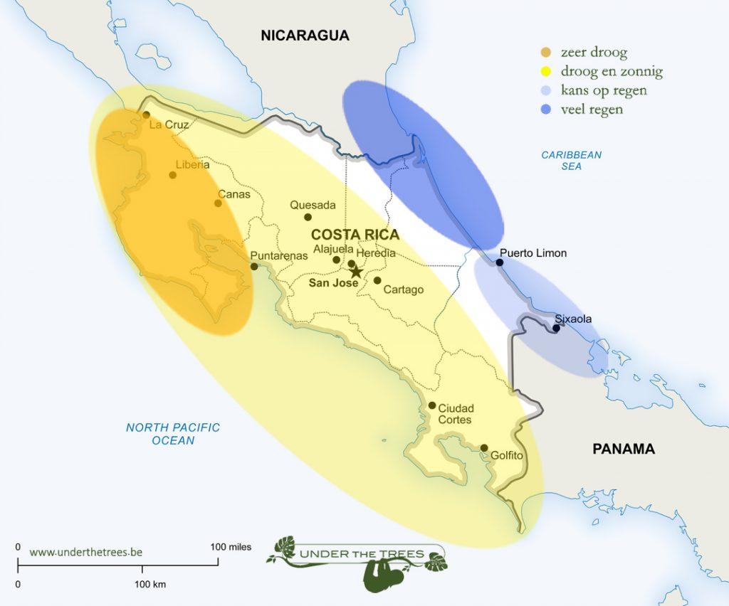 het weer in januari in costa rica