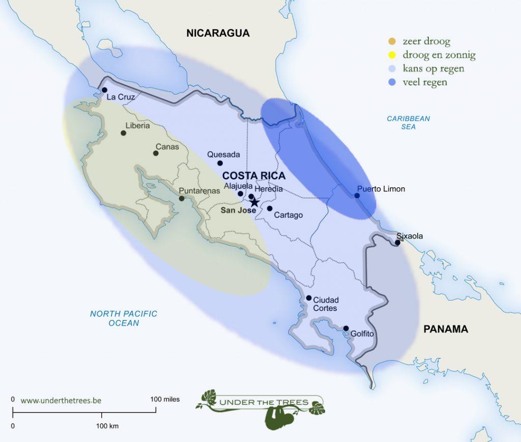 het weer in juli in Costa Rica