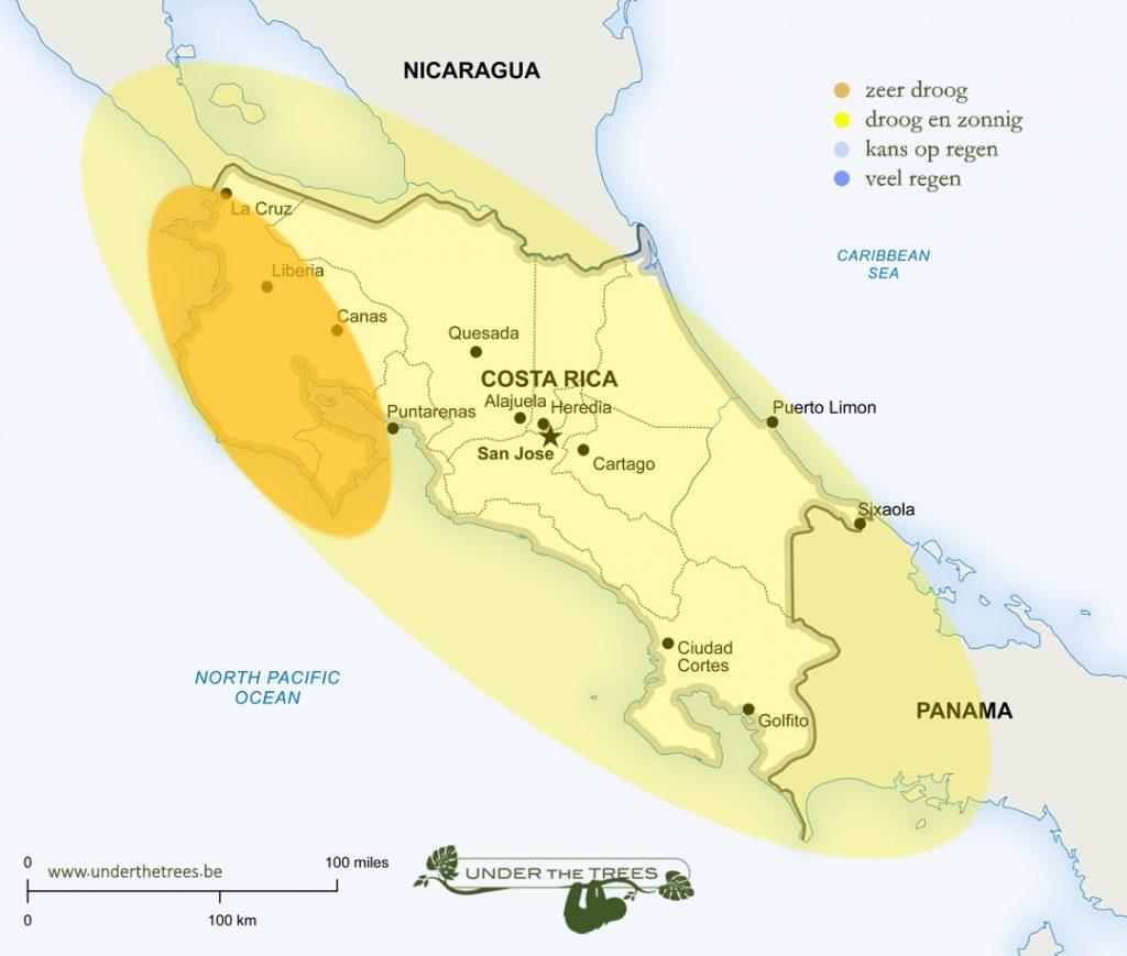 het weer in maart in Costa Rica