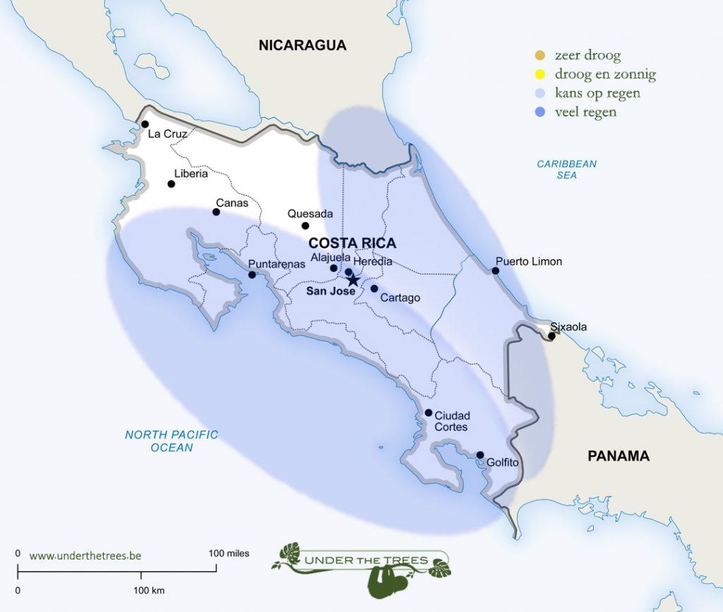 het weer in mei in Costa Rica
