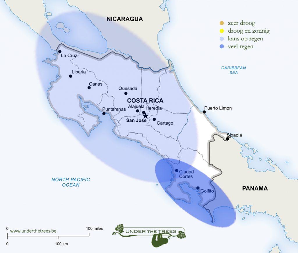 het weer in november in Costa Rica
