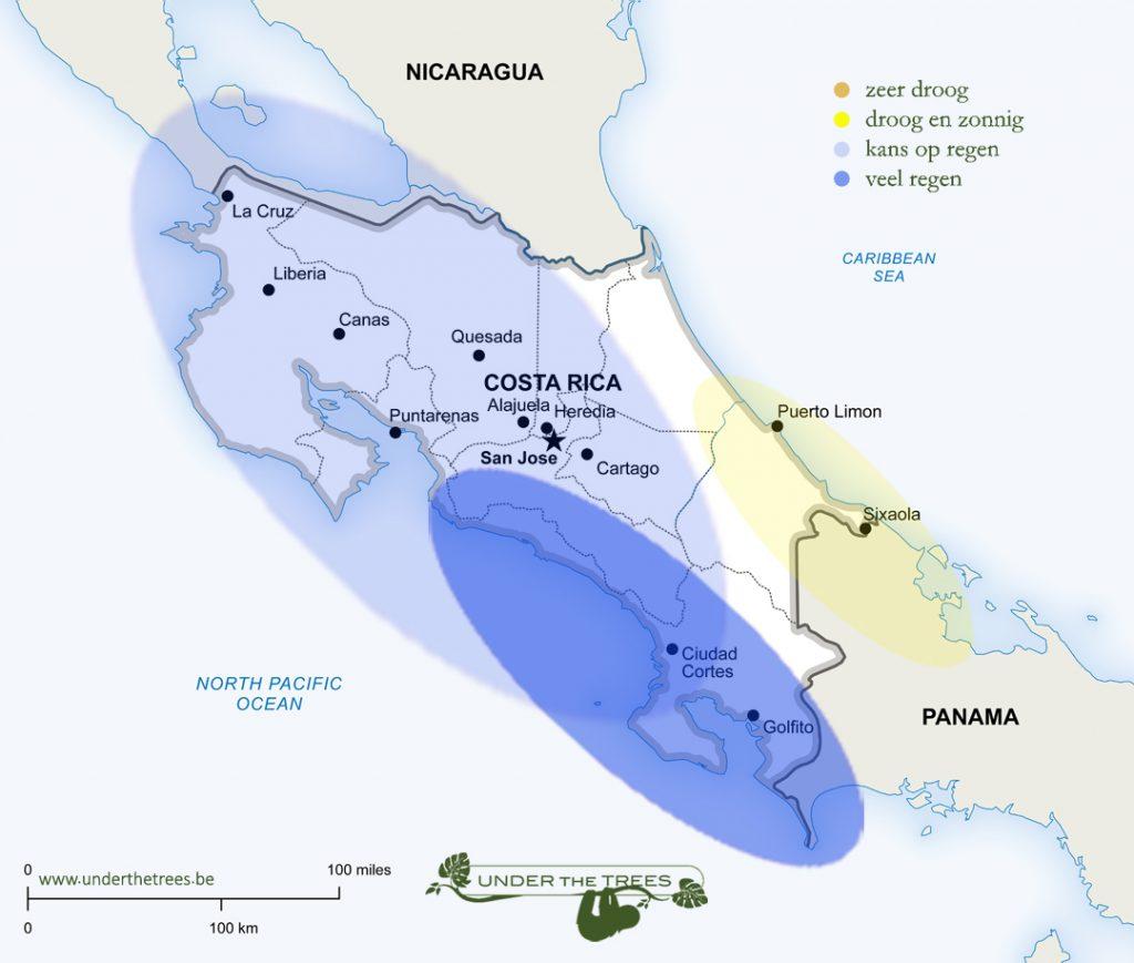 het weer in oktober in Costa Rica