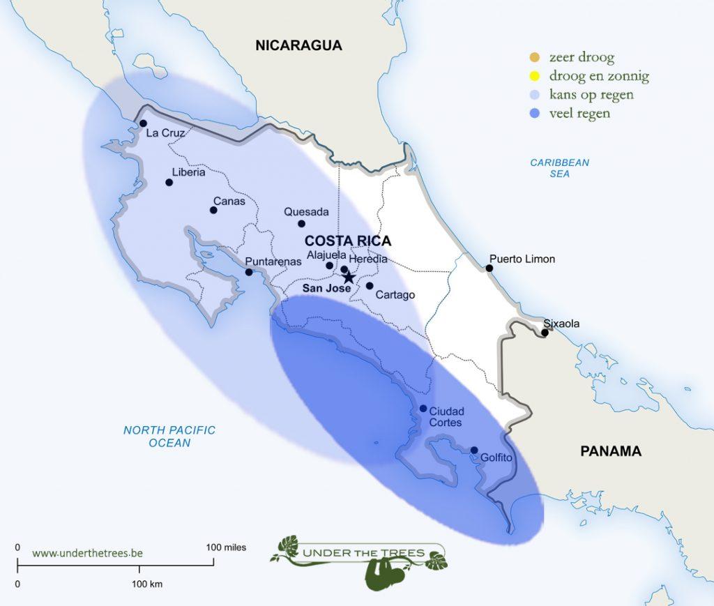het weer in september in Costa Rica