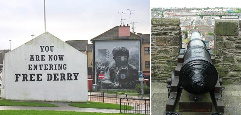 straatbeeld Derry in Noord-Ierland