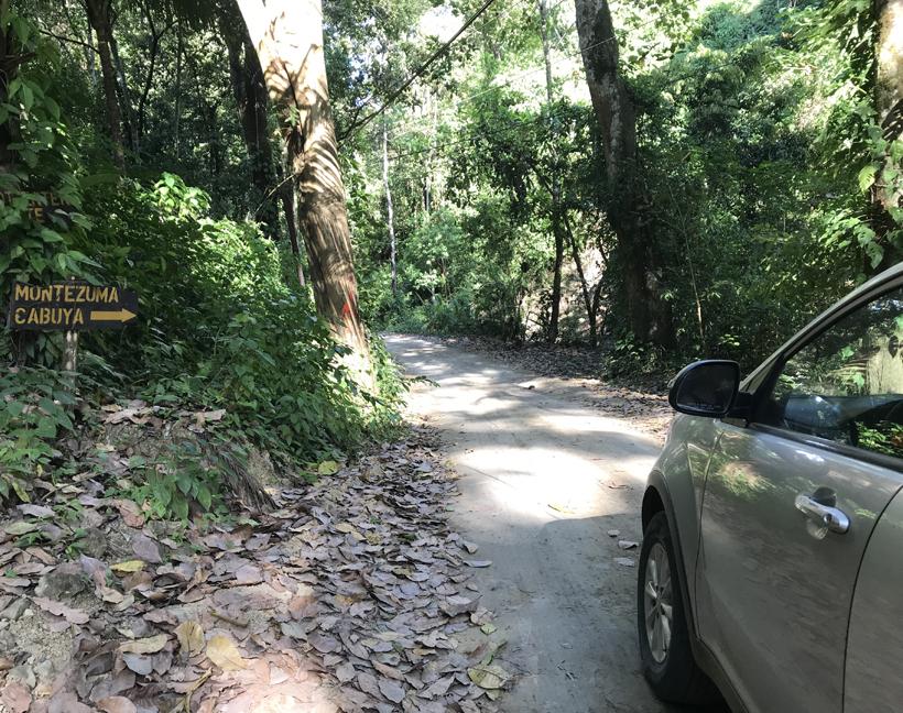 zandweg van Mal País naar Cabuya