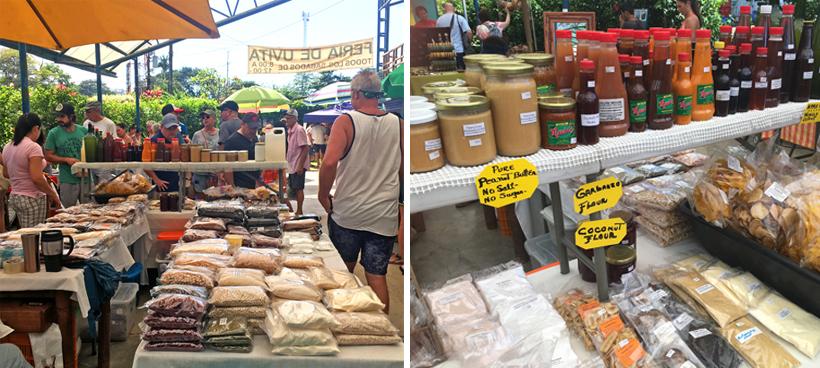 organische markt in Uvita