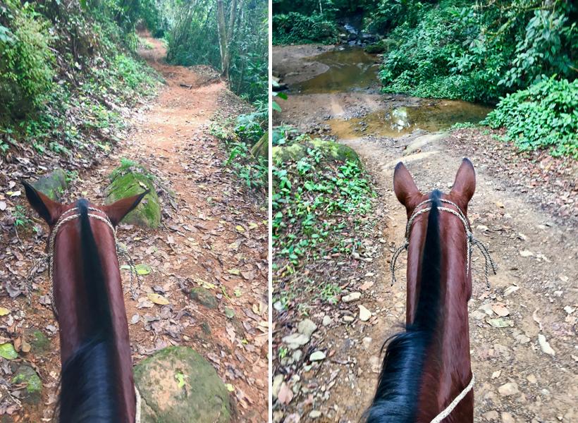 met paarden naar nauyaca watervallen