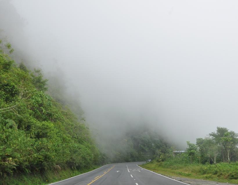 Nevel onderweg naar Cerro de la Muerte