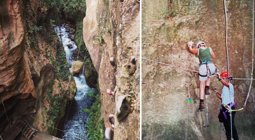 klimmen in canopy-Guachipelin