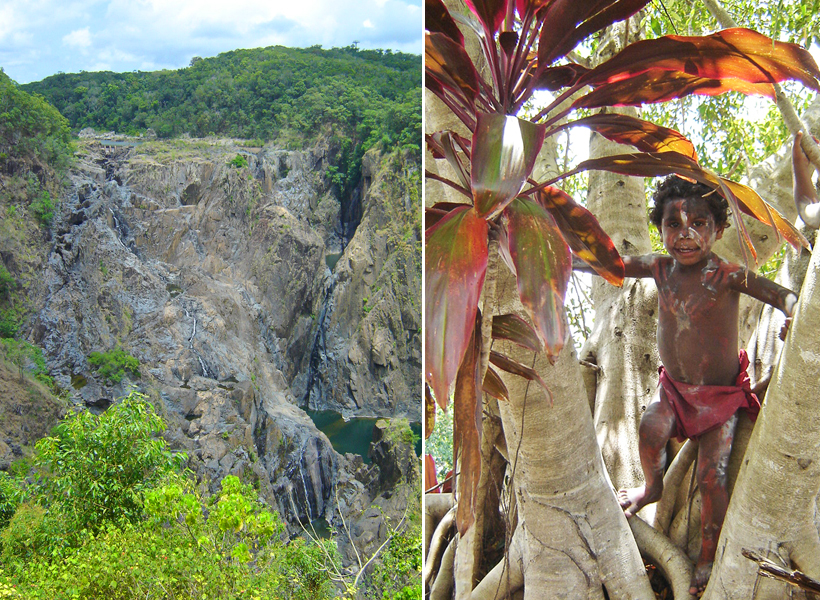 Barron Falls en kuranda rainforest village in tropisch Queensland
