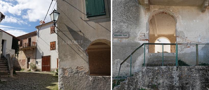 verlaten straatjes en oude huizen in Beli