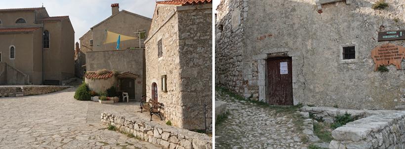 verlaten dorp Lubenice op Cres