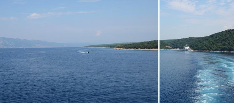 overtocht van eiland krk naar eiland Cres