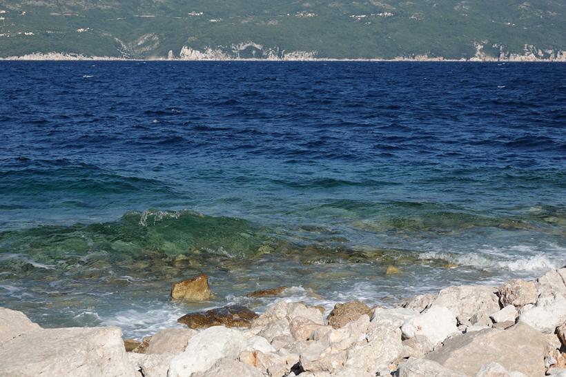 zicht op kustlijn Istrië
