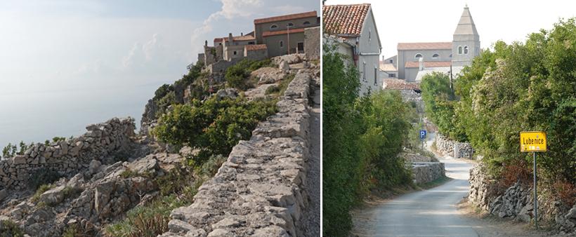 afgelegen dorpje Lubenice op eiland Cres