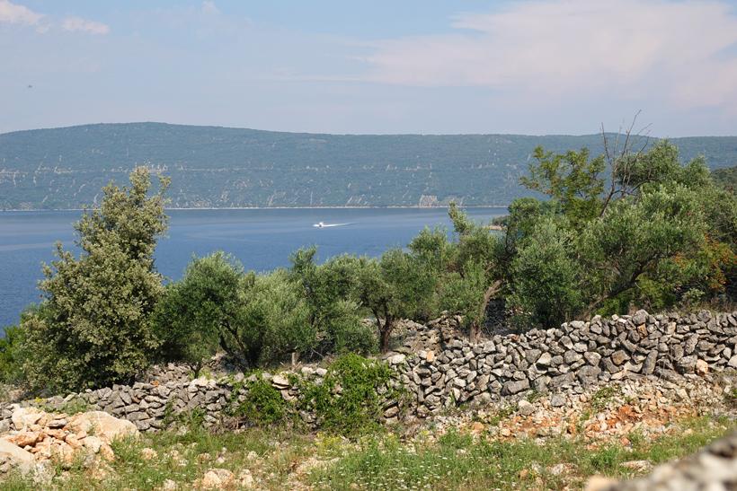 Kavner baai bij Cres en Valun