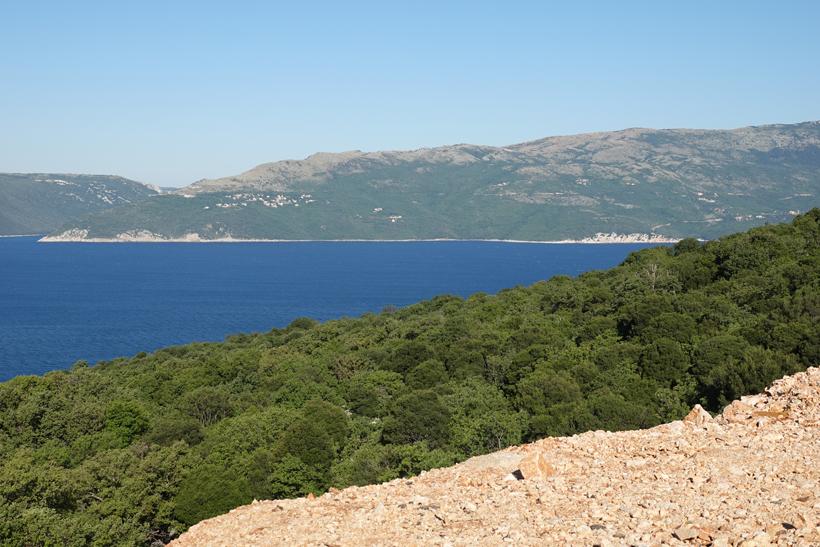 zicht op Istrië vanop Cres