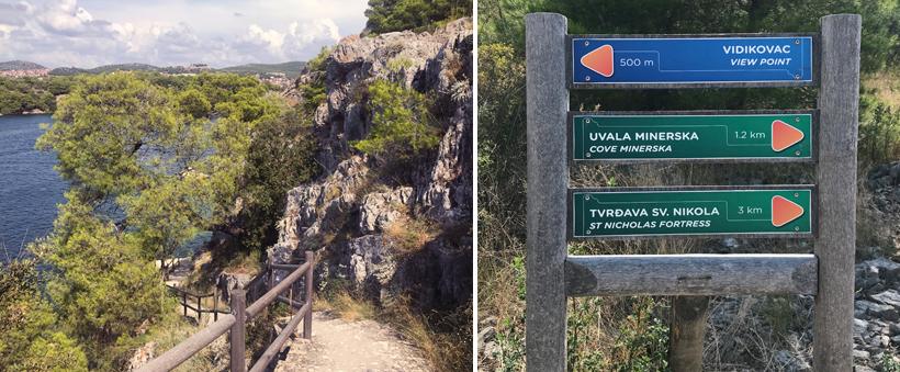 wandeling kanaal Svt Ante bij Sibenik aan de Adriatische kust