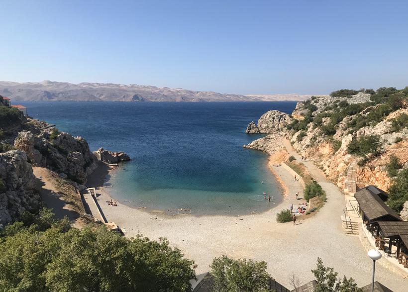 Tatinja beach aan de Adriatische kust