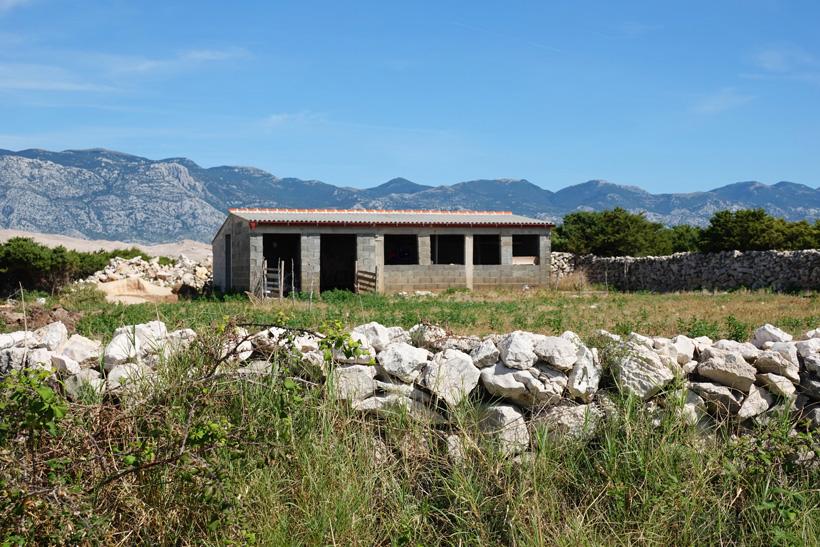 boederij op eiland Pag aan de Adriatische kust