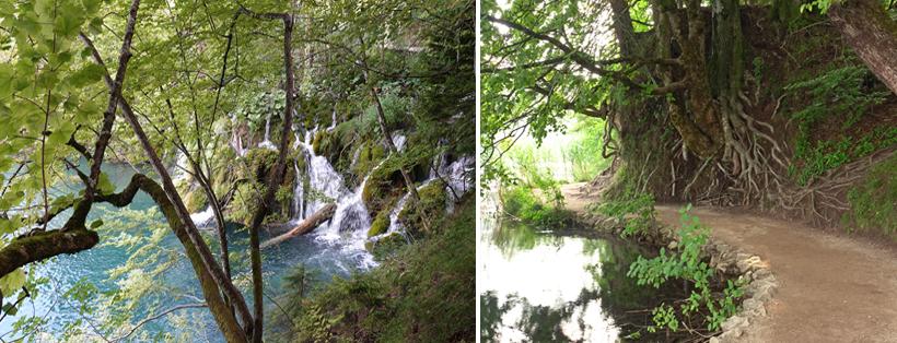 Plitvice wandelpad watervallen