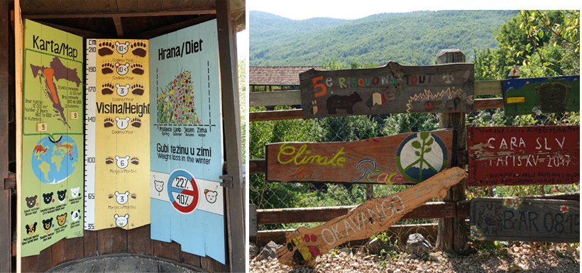 infoborden in Kuterevo berenopvang