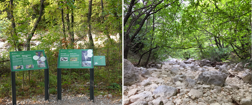 natuur langs educational trail Paklenica National Park