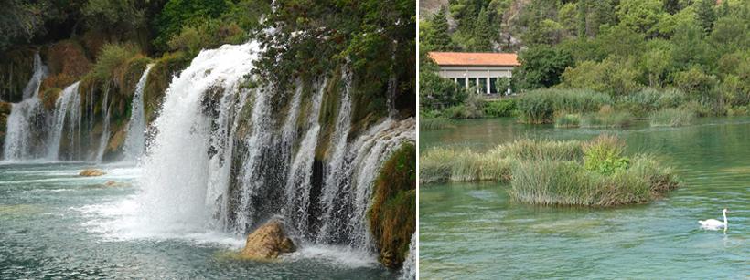 start trail watervallen krk vanuit skradin