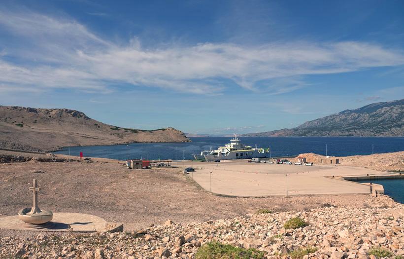 ferry Pag naar vasteland aan de Adriatische Kust