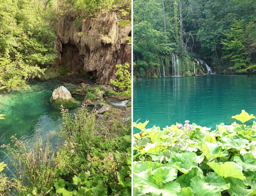 lichtblauw water aan watervallen Plitvice