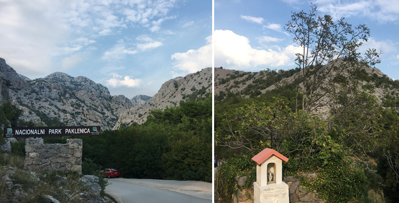 Ingang Paklenica National Park in starigrad langs de Adriatische kust