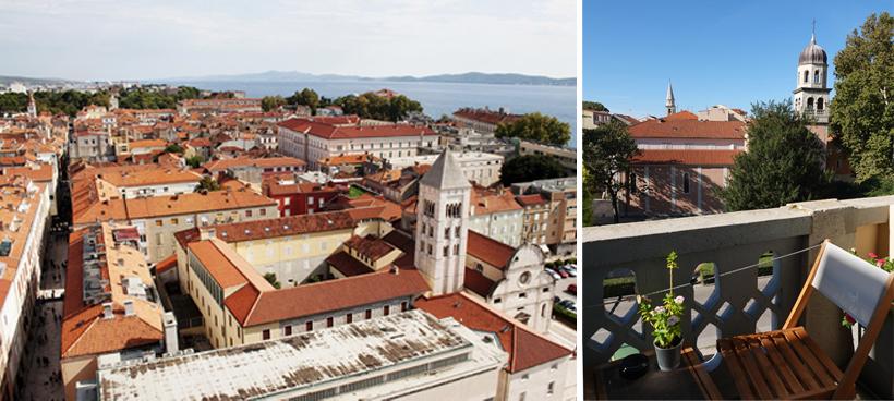 logeren in Zadar langs de Adriatische kust