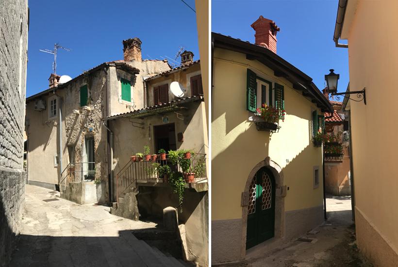 oude steegjes in Lovran aan de Adriatische kust
