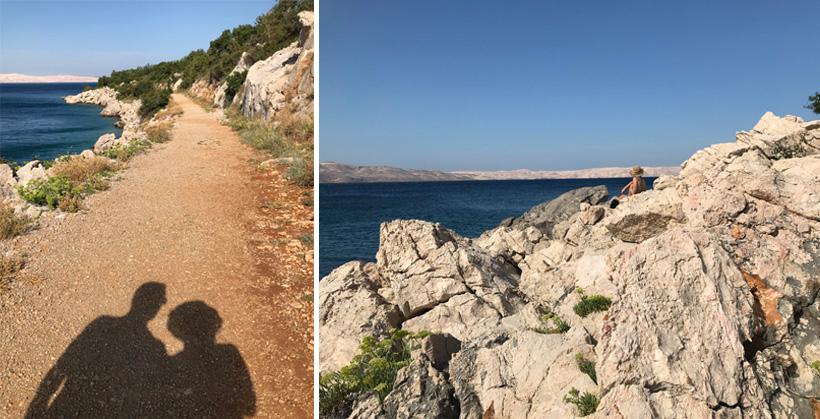 Rust aan de Adriatische kust bij Tatinja beach