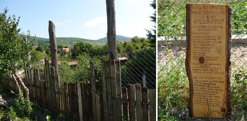 afscherming en verrijking in berenopvang Kuterevo