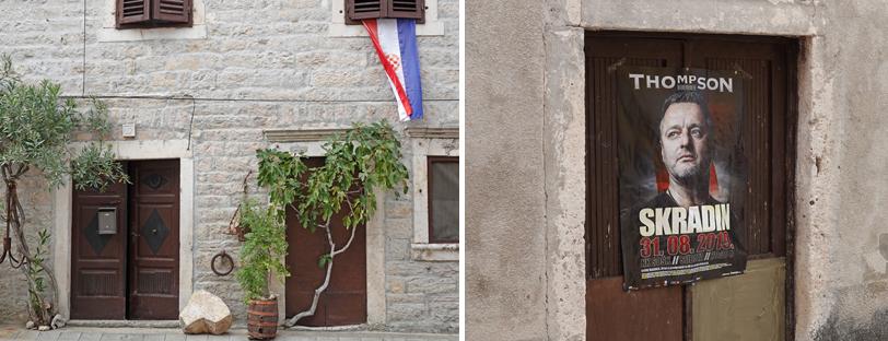 oude gebouwen in skradin