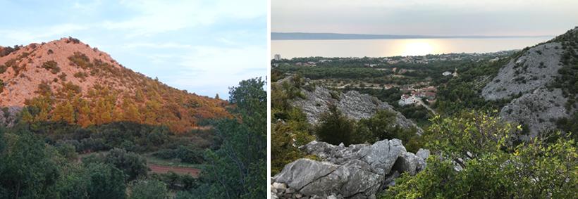 zonsondergang Starigrad aan de Adriatische kust
