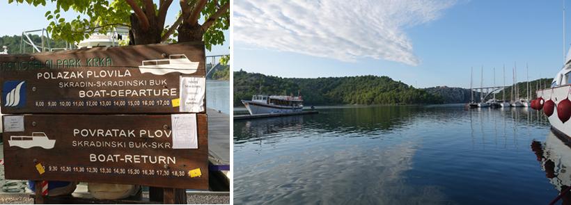 vertrek ferry skradin naar krka watervallen