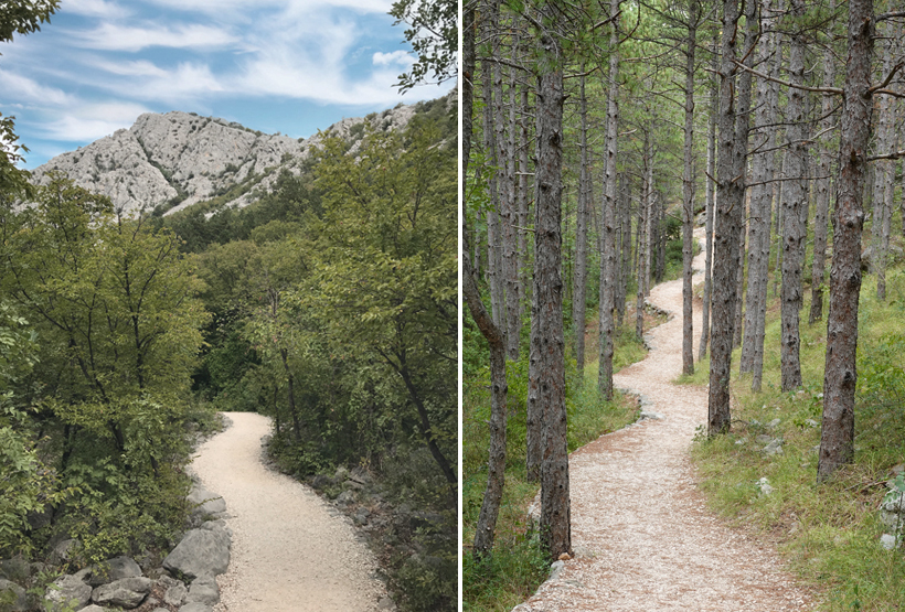 kronkelpaadje langs educational trail Paklenica