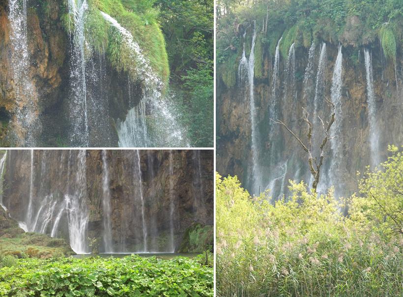 nevel van watervallen in Plitvice