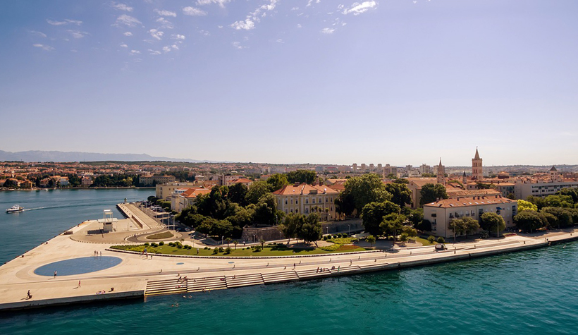 Zadar met windorgel